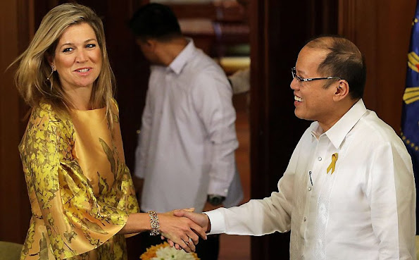 Queen Maxima of The Netherlands met with president Benigno S. Aquino at the Malacanang Palace