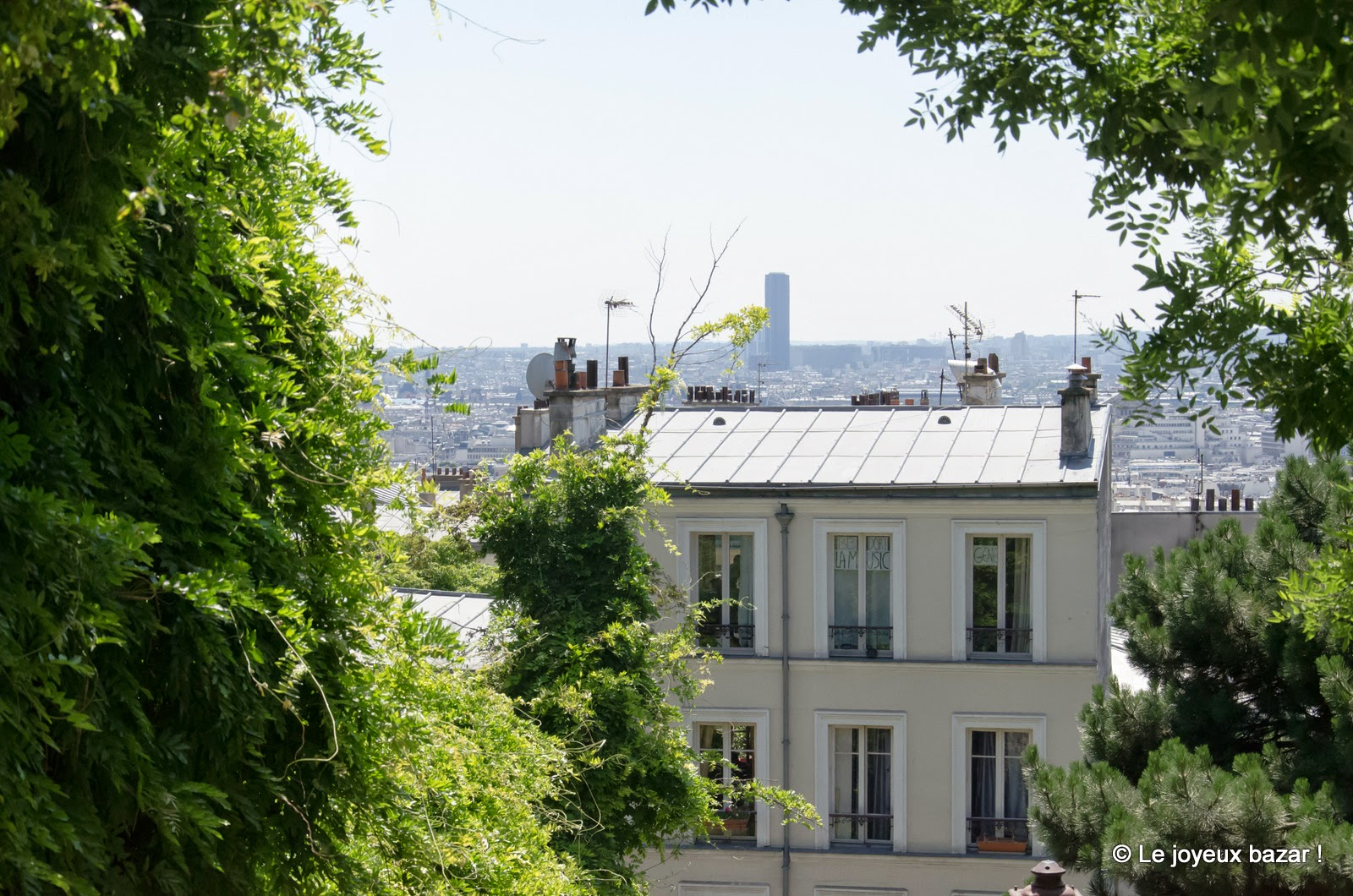 Paris - Montmartre - vue sur Paris