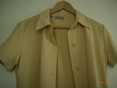 MANGO - tailleur beige - Veste manches courtes T40 et Pantalon T42 - TRES BON ETAT