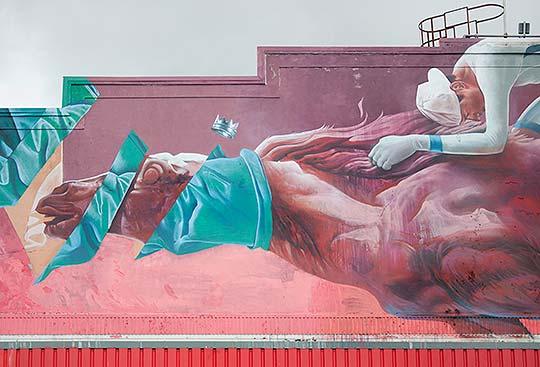 Arte urbano, muralismo y talento de Telmo Miel