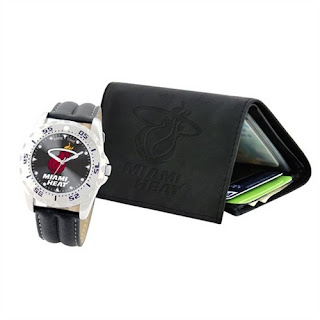 Miami Heat NBA Men's Wallet & Watch Gift Set