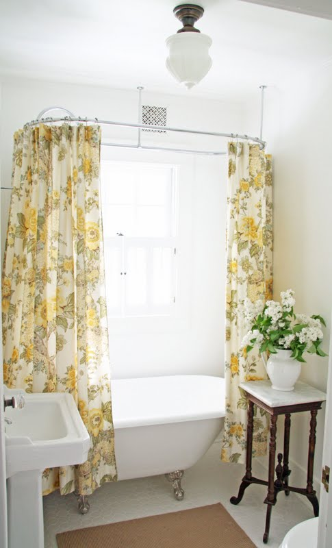 Curtains Ideas clawfoot tub curtain : In the Fields : Downstairs Bathroom Revisited...Again