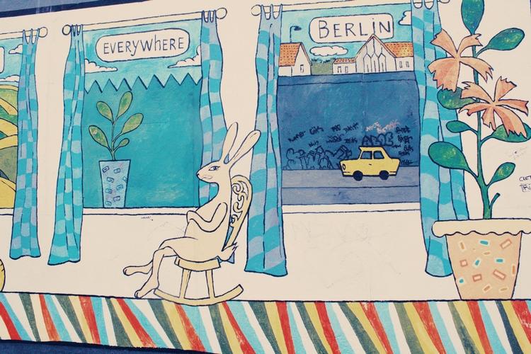 Berlin street art, East Side Gallery