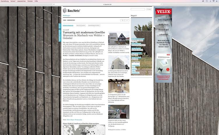 Baunetz berichtet über das Museum in Marbach by Webler+Geissler