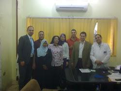إجتماع مع الأستاذ الدكتور طه البهنساوى استاذ المناظير بالقصر العينى