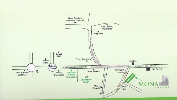 Mona Greens Location Map