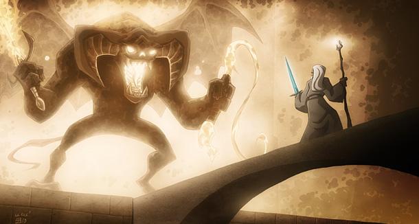 Gandolf, do da Saga Senhor dos Anéis.