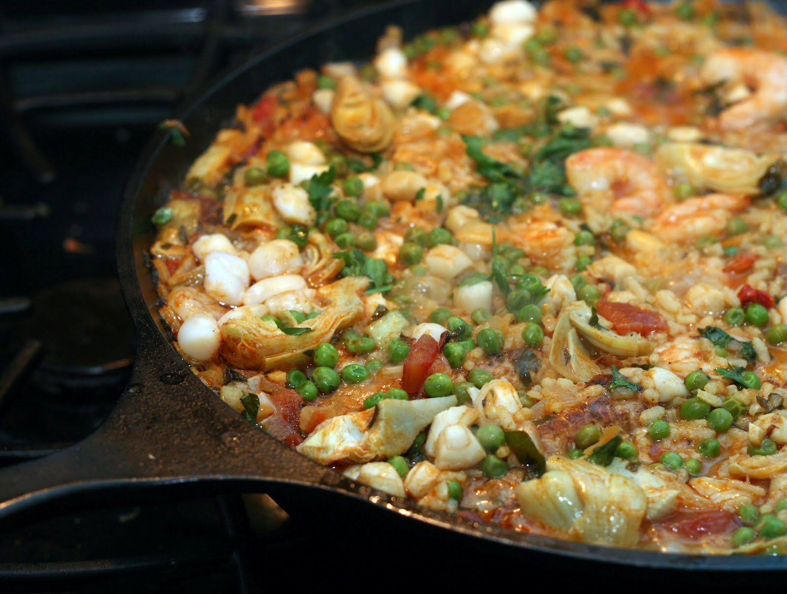 Coconut & Lime // recipes by Rachel Rappaport: Seafood Paella