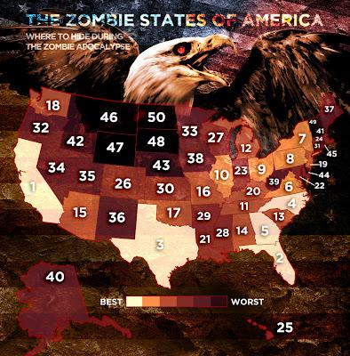 Zombie States of America - Il rischio stato per stato
