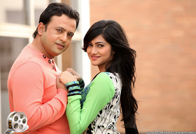 Bangladeshi Model Actress Nadia Afrin Mim with Actor Riaz