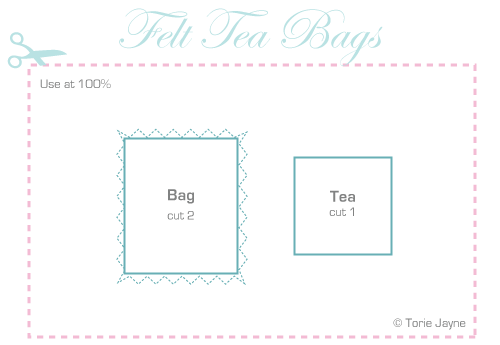 Felt tea bags pattern