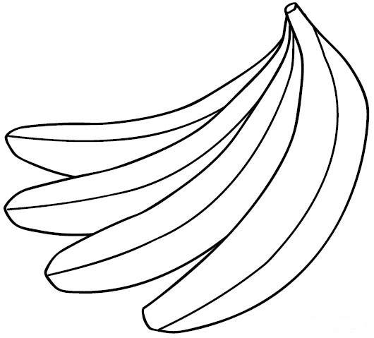 Bananas Coloring Child Coloring