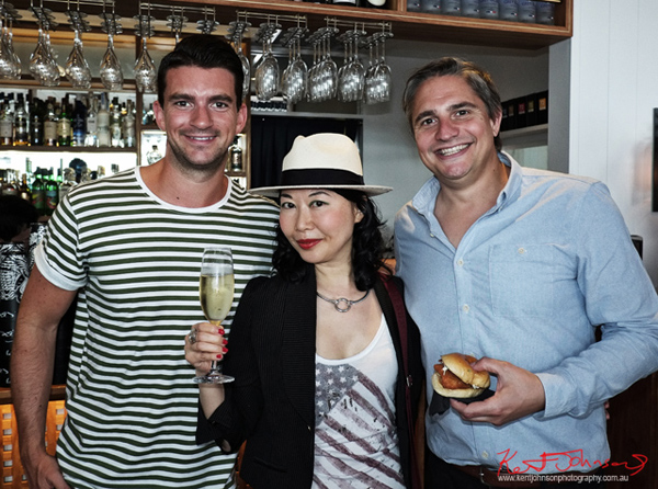 Steve  & Will 'The Gourmet Pommies with vivalaViv blogger  Vivienne Shui at the Sperry Odyssey Australia launch Regatta Rose Bay.