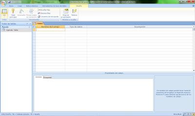 crear nuevas tablas en Access
