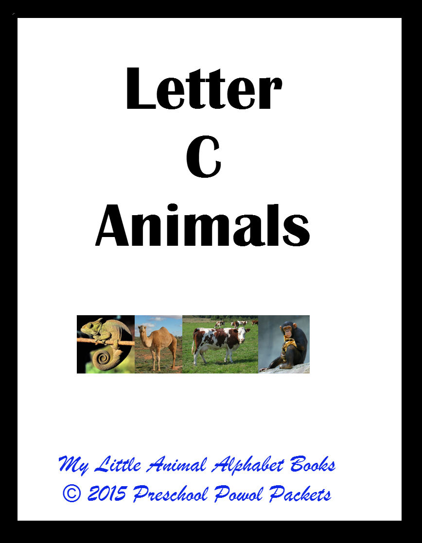 free} my little animals alphabet book letter c | preschool powol packets