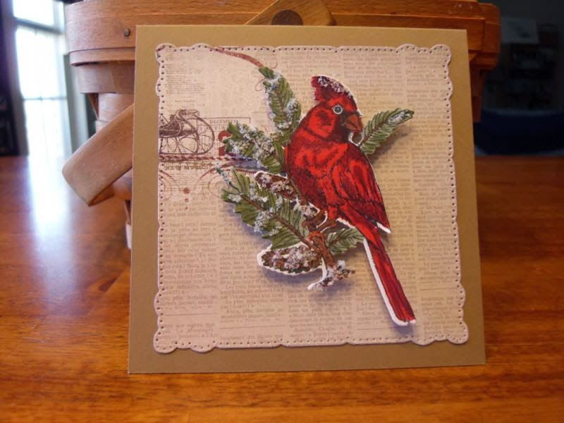 ODBD Sing for Joy, ODBD Custom Cardinal Die, Card Designer Leslie Springer