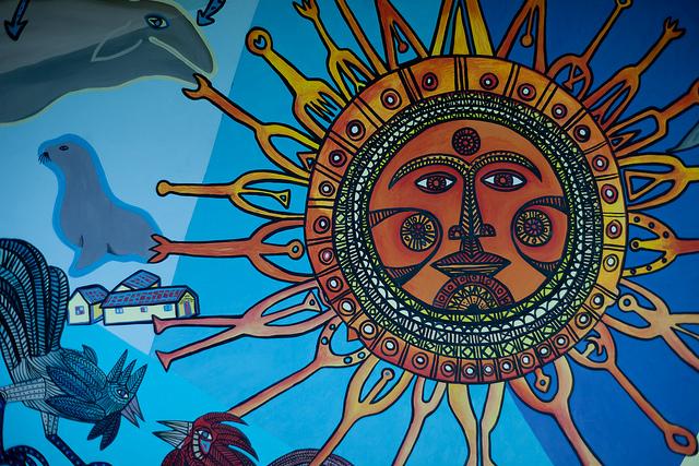 Arte en la escuela intervenciones artisticas homenaje a for Arte colectivo mural