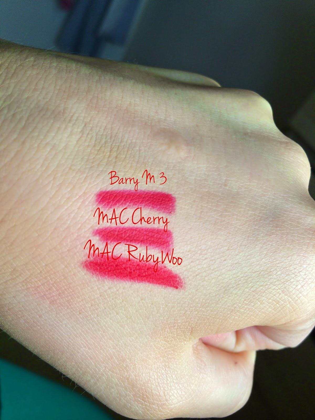 my fashion & beauty blog: MAC Cherry, Nightmoth, Currant ...