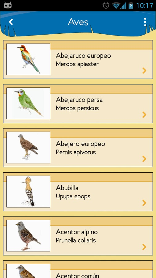 Blog Safari Club, Enciclopedia de las Aves de España para Android