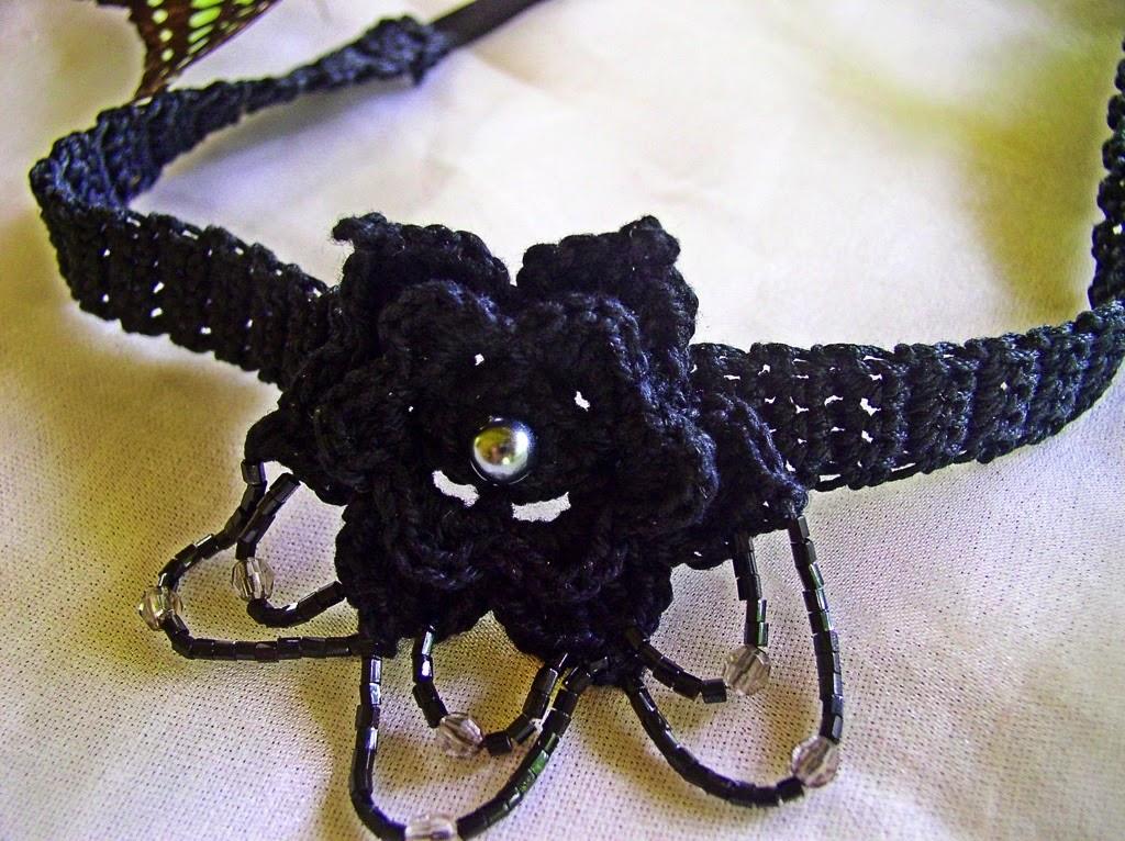 Crochetology By Fatima Crocheted Flower Choker