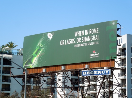Heineken When in Rome billboard