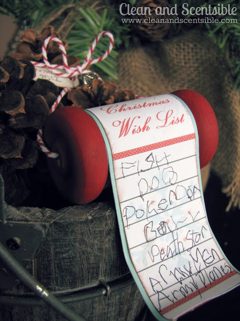 DIY Christmas Wish List Ornaments craft  with printable featured on Design Dazzle