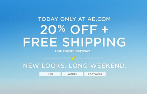 American eagle free shipping coupon codes 2018