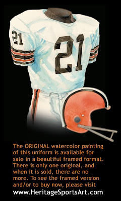 Cleveland Browns 1972 road uniform