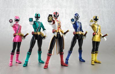 Bandai SDCC 2013 Exclusive SH Figuarts Power Rangers Samurai Set