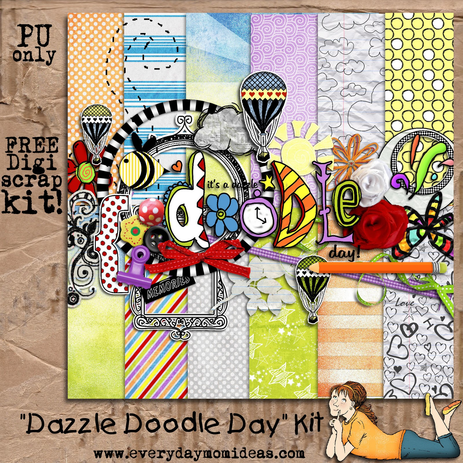 This QP was created with the Dazzle Doodle Day Kit that is still