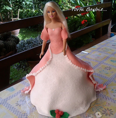 torta barbie per i 5 anni della mia piccola.....