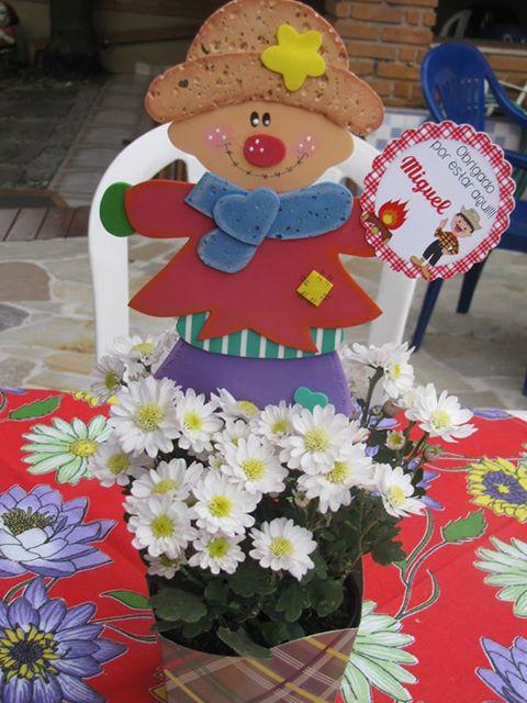 Enfeite De Festa ~ Paula Renata E V A Enfeites para centro de mesa de festa junina
