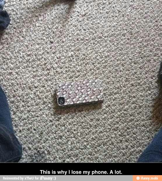 This is Why I lose my Phone. Smart phone on the carpet with almost the same  print.