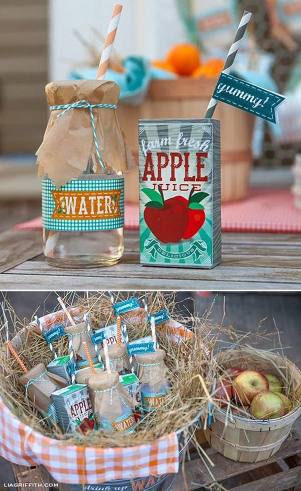 Botella+agua+y++brick+zumo