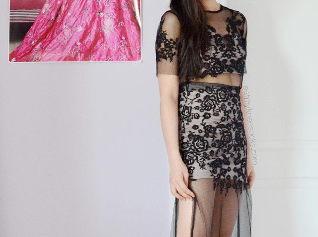 For Love and Lemons' Luau crop top and maxi skirt set is super-popular and great for the summer and for the beach; you can grab an affordable dupe from SheIn!