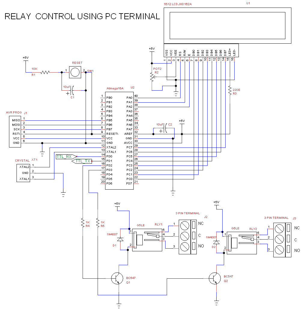 Relay Control Through Pc Using Virtual Com Port Terminal Ft232rl Ftdi Cable Schematic Note Do Not Short 5v Usb And There Are Kept Independent Both The Grounds Of Above Circuit