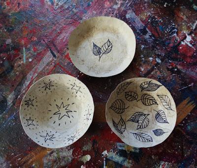 papier-mache bowls