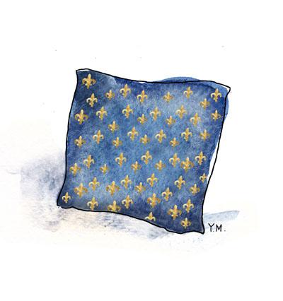 cushion by Yukié Matsushita