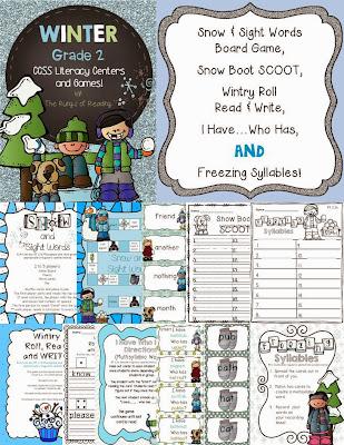 http://www.teacherspayteachers.com/Product/Grade-2-Winter-Literacy-Centers-Games-1003876