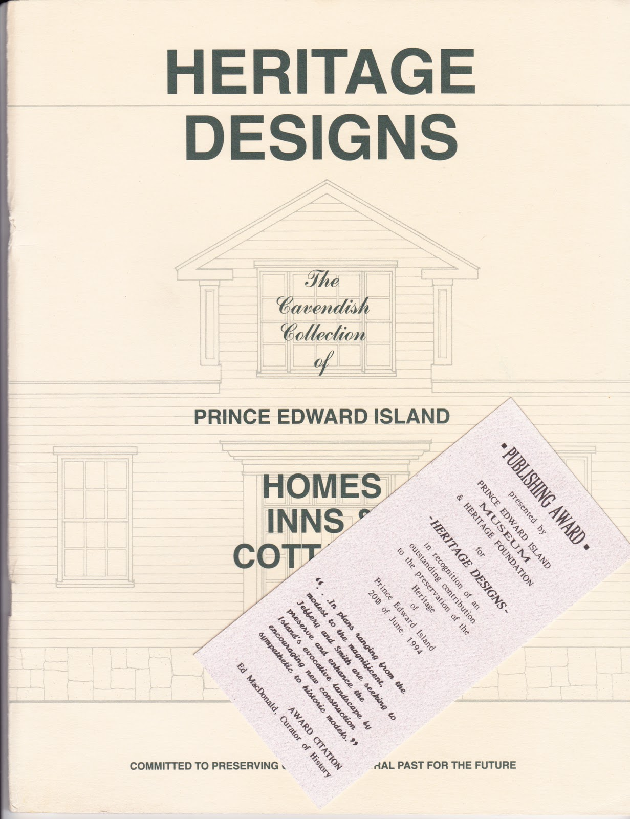 """Heritage Designs P.E.I."" Book For Sale"