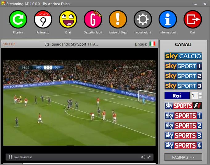 Come fare per vedere le partite di calcio gratis sul pc for Programma per vedere telecamere da remoto