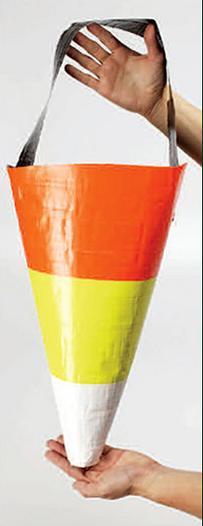 Bolsos carameleros con cinta pato (Halloween)