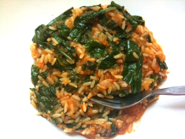 Superfoods Month: Spanakorizo (spinach rice) from Life in Greek