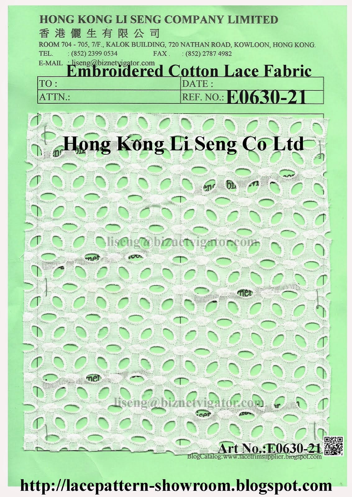 New Cotton Lace Fabric Pattern Manufacturer Wholesaler And Supplier - Hong Kong Li Seng Co Ltd