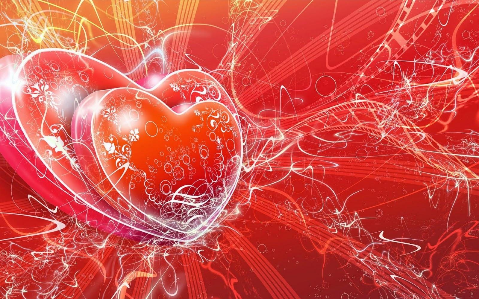 Romantic love heart designs hd cover wallpaper pixhome for Heartbeat design