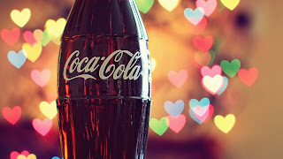 CocaCola Colorful Hearts Lights HD Wallpaper