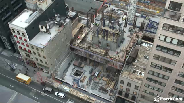 Picture of the construction site as seen form the building on the 57th street