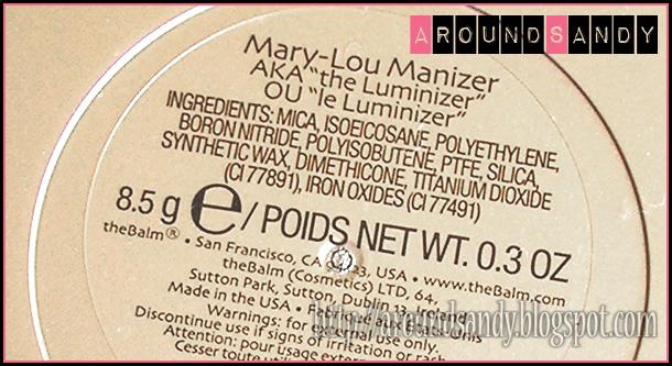 The balm Mary-Lou Manizer review swatches dónde comprar iluminador ingredientes
