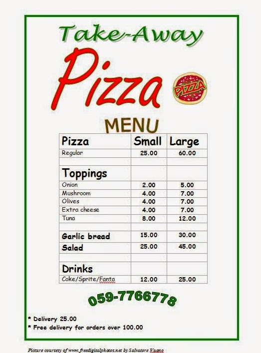 Talk me english how to order pizza elementary level