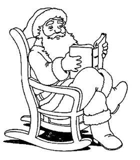 Dibujos de Santa Claus para Pintar, parte 3